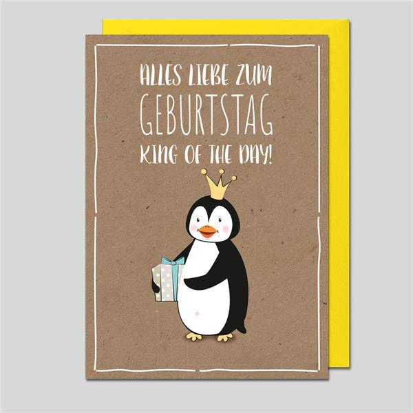 Glückwunschkarte Pinguin