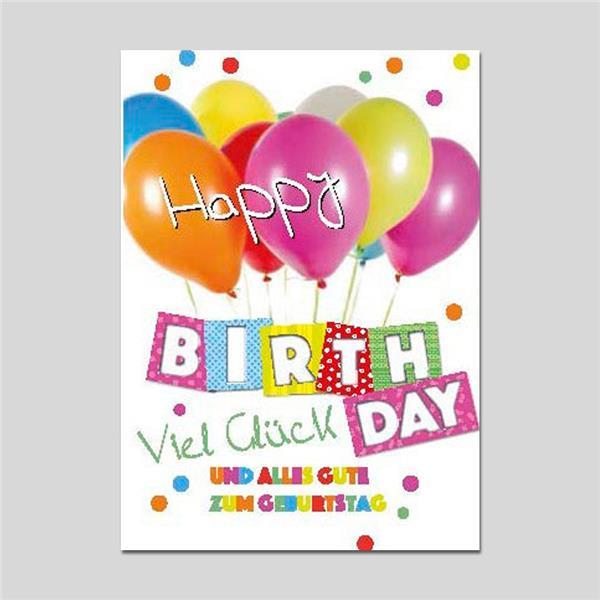 Minikarte Happy Birthday mit Klammer