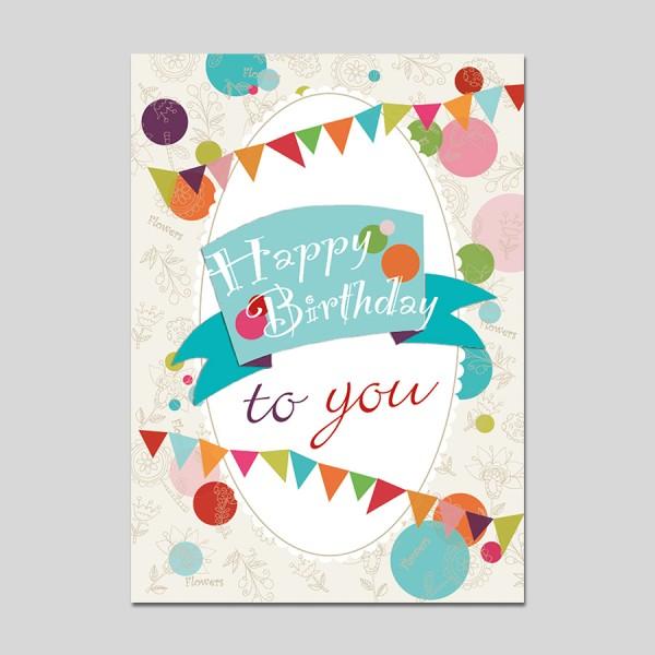 Minikarte Happy Birthday