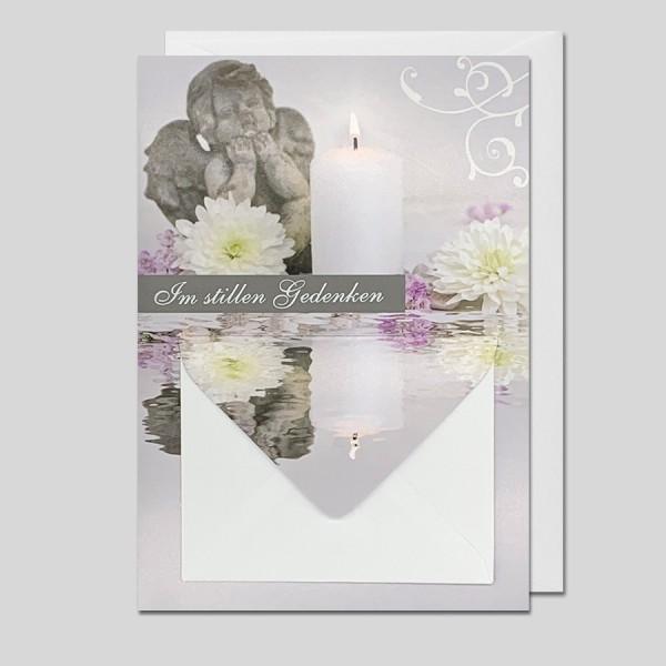 Trauerkarte m. Geldkuvert Im stillen Gedenken