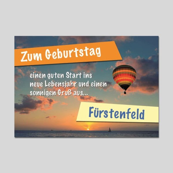 City-Cards Heißluftballon