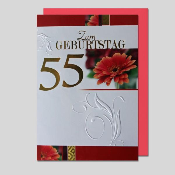 Umschlagkarte 55. Geburtstag