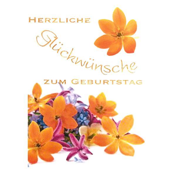 Minikarte Herzliche Glückwünsche zum Geburtstag