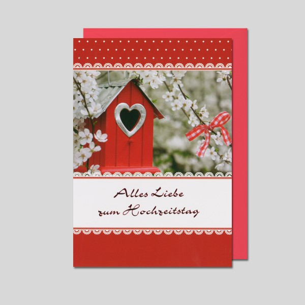 Umschlagkarte Hochzeitstag
