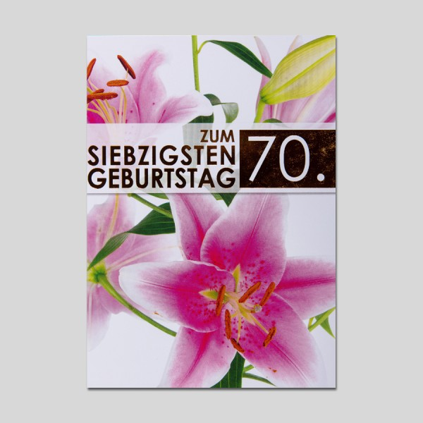 "Make it big ""70.Geburtstag"""