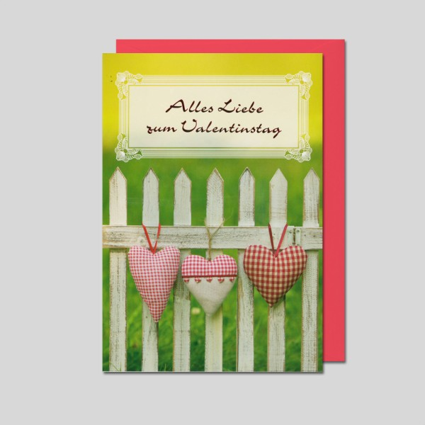 Umschlagkarte Valentinstag