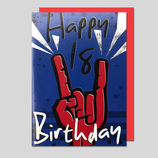Umschlagkarte 18. Geburtstag