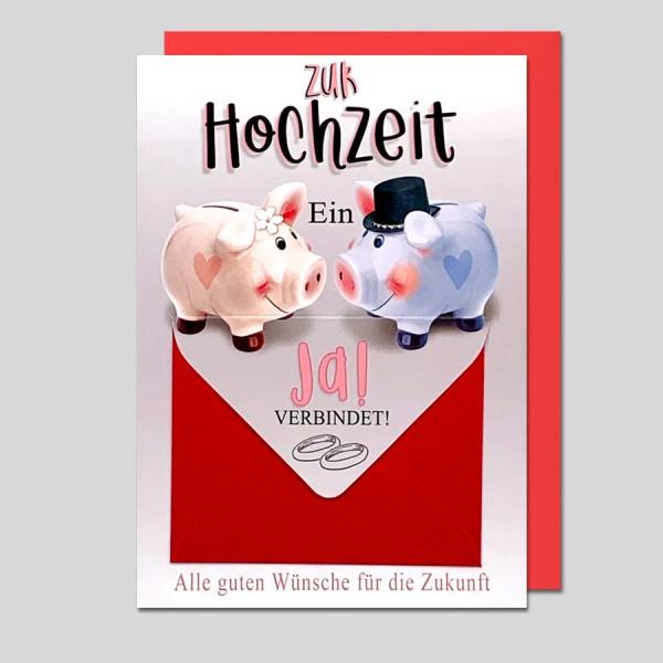 Hochzeitskarte mit Geldumschlag