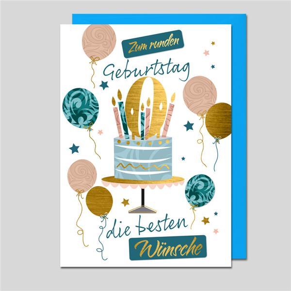 Glückwunschkarte Zum runden Geburtstag