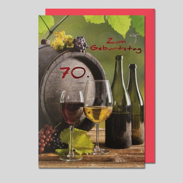 Fotokarte 70. Geburtstag