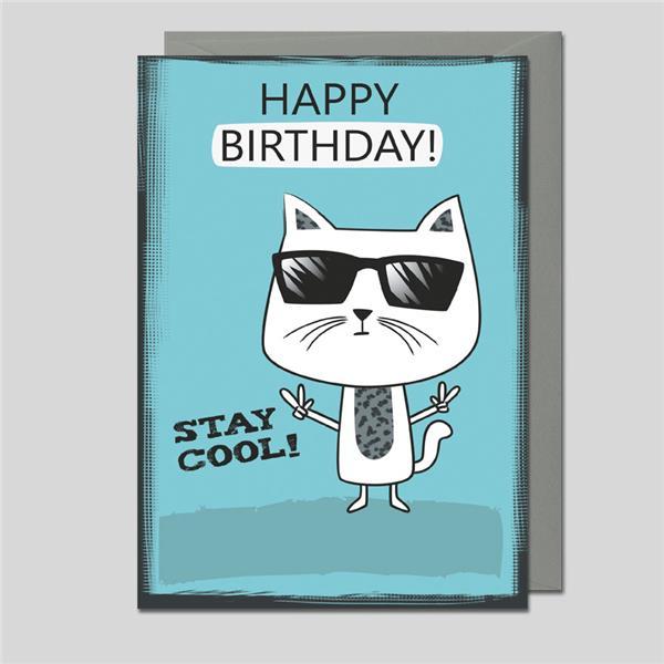 Geburtstagskarte Stay Cool!