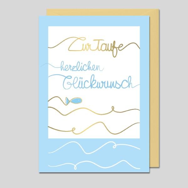 Glückwunschkarte Zur Taufe
