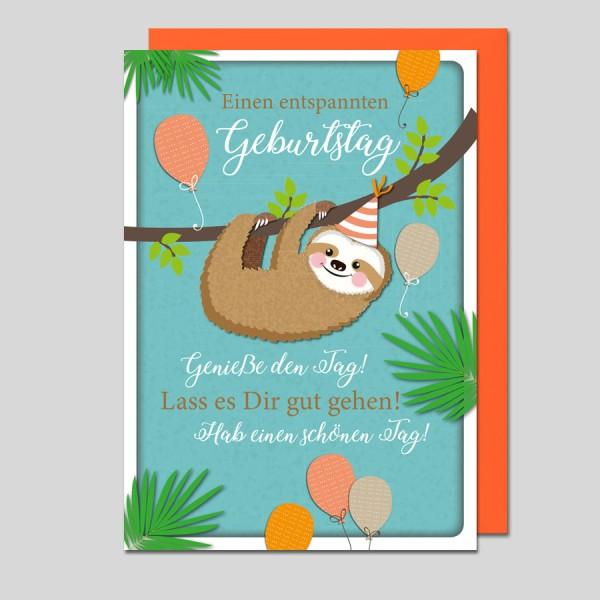 Glückwunschkarte Einen entspannten Geburtstag