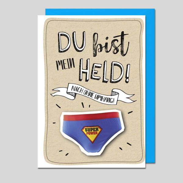 Umschlagkarte Du bist mein Held