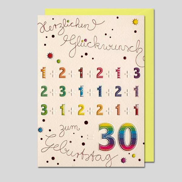 """Patchwork """"30 Geburtstag"""""""